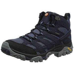 Merrell Men's Moab 2 Mid Gore-tex High Rise Hiking Shoes, Blue (Navy), 12.5 UK (48 EU)
