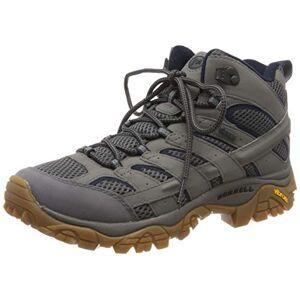 Merrell Men's Moab 2 Mid Gore-tex High Rise Hiking Shoes, Grey (Charcoal), 7 UK (41 EU)