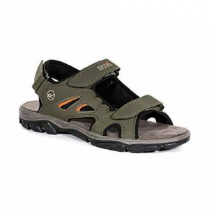 Regatta Men's Holcombe Vent Open Toe Sandals, Brown (Khaki/Gdfl 5tv), 12 UK (47 EU)