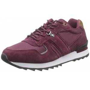 MTNG Attitude Men's 84327 Low-Top Sneakers, Red (Cow Suede/Mesh Burdeos C47437), 6 UK