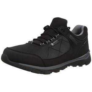 Regatta Men's Highton Stretch' Waterproof Breathable EVA Footbed Rubber Outsole Hiking Shoes Walking, Black/Rock Grey, 8 UK