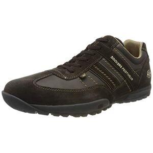 Dockers by Gerli Men's 36ht001 Low-Top Sneakers, Brown (Schoko/Schoko 370), 11.5 UK