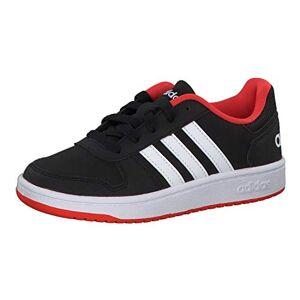 adidas Hoops 2.0 K, Unisex Kid's Fitness Shoes, Black (Negro 000), 1 UK (33 EU)