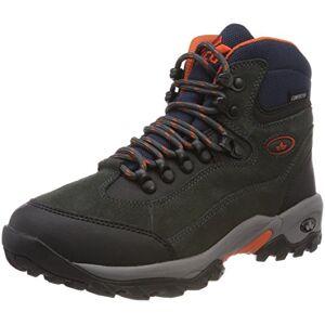 Lico Men's Milan High Rise Hiking Shoes, Black (Anthrazit/Orange Anthrazit/Orange), 12 UK