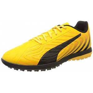 Puma Men's One 20.4 Tt Football Boots, Yellow (Ultra Yellow Black-Orange Alert 01), 10 UK 44.5 EU