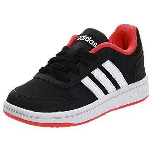 adidas Hoops 2.0 K, Unisex Kid's Fitness Shoes, Black (Negro 000), 2 UK (34 EU)