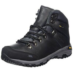 Trespass Cantero, Black, 46, Waterproof Hiking Boots for Men, UK Size 12, Black