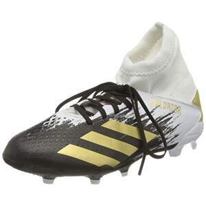 adidas Predator 20.3 Fg J Soccer Shoe, FTWR White Gold Met Core Black, 10 UK Child