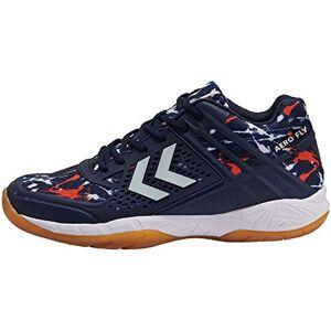 hummel Unisex Adults' AERO Fly Multisport Indoor Shoes, Blue Peacoat Orange Com 7668, 12 UK