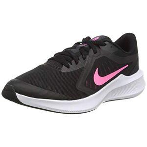 Nike Kids' Downshifter 10 (GS) Running Shoe, Black/Pink Glow-Anthracite-White, 3.5 UK Medium