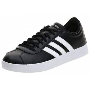 adidas Adidas Vl Court 2.0 B43814, Men's Low-Top Sneakers, Black (Black B43814), 10 UK (44 2/3 EU)