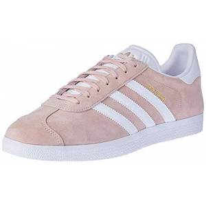 adidas Unisex Adults' Gazelle Gymnastics Shoes, Pink (Vapour Pink/White/Gold Metallic), 11.5 UK 46 2/3 EU
