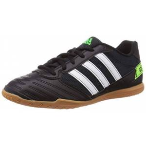 adidas Men's Super Sala 39s Football Sneakers, Green (Core Black/FTWR White/Solar Green), 10 UK