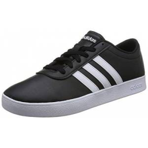 Adidas Easy Vulc 2.0 B43665, Men's Low-Top Sneakers, Black (Black B43665), 10 UK (44 2/3 EU)