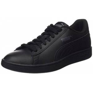 Puma Unisex Puma Smash V2 Low Top Sneakers, Puma Black Puma Black, 10 UK
