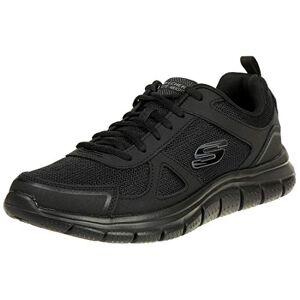 Skechers Men's Track-scloric 52631-bbk Low-Top Sneakers, Black Black 52631 BKRD, 12 UK