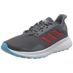 adidas Unisex Kids' Duramo 9 K Running Shoe, Onix/Scarlet/Bright Cyan, 13.5 UK