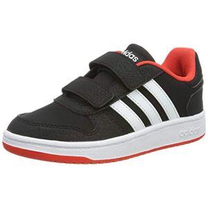 adidas Hoops 2.0 Cmf C, Unisex Kid's Fitness Shoes, Black (Negro 000), 1 UK (33 EU)