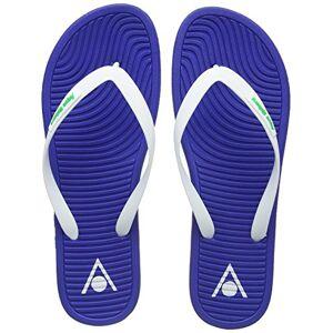 Aqua Sphere Unisex's Hawaii Flip Flops, Royal Blue/Light Green, Size 44