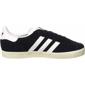 adidas Unisex Kids' Gazelle J Gymnastics Shoes, Black (Core Black/Footwear White/Gold Metallic), 3.5 UK