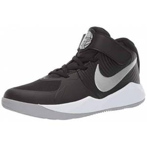 Nike Unisex Kids' Team Hustle D 9 (ps) Basketball Shoes, Multicolour (Black/Metallic Silver/Wolf Grey/White 000), 1.5 UK
