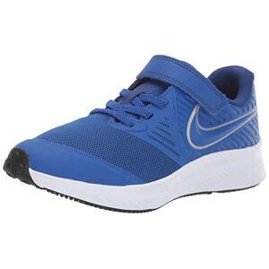Nike Unisex Kids Star Runner 2 (PSV) Track & Field Shoes, Multicolour (Game Royal/Metallic Silver 400), UK