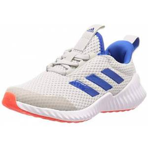 adidas Unisex Kids' Fortarun Road Running Shoe, Grey Glory Blue Solar Red, 1 UK