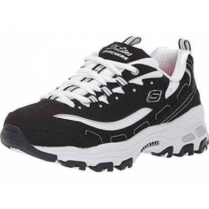 Skechers D'LITES- BIGGEST FAN, Girl's Low-Top Trainers, Black (Black Trubuck/White Mesh Bkw), 9.5 Child UK (27 EU)