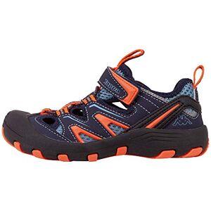 Kappa Unisex Kids' Reminder Low-Top Sneakers, Blue (Navy/Orange 6744), 1.5 UK