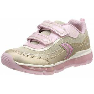Geox J Android Girl A, Girls' Low-Top Sneakers, Gold (Platinum/Pink C2ue8), 1.5 UK (34 EU)