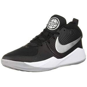 Nike Unisex Kids' Team Hustle D 9 (gs) Basketball Shoes, Multicolour (Black/Metallic Silver-Wolf Grey-White 001), 3 UK