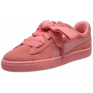Puma Unisex Kids Suede Heart SNK Jr 364918-05 Low-Top Sneakers, Shell Pink-Shell Pink, 4 UK