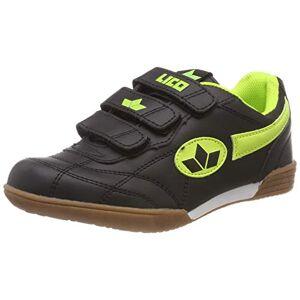 Lico Unisex Kids' Bernie V Fitness Shoes, Black (Schwarz/Lemon Schwarz/Lemon), 1.5 UK
