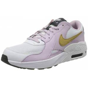 Nike Unisex Kids' Air Max Excee (gs) Sneaker, White/Metallic Gold-Ice Lilac-Off Noir, 4 Child UK