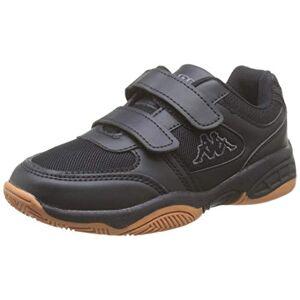 Kappa Unisex Kids' Dacer Low-Top Sneakers, Black Grey 1116, 4 UK