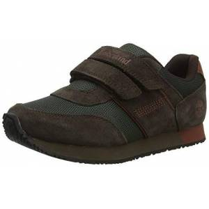 Timberland Unisex Kids' City Scamper Oxford (Youth) Low-Top Sneakers, Dark Brown Suede, 1.5 UK 34 EU