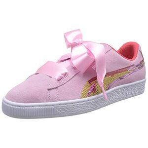 Puma Girls' Suede Heart Trailblazer SQN Jr Low-Top Sneakers, Pink (Pale Pink-Hibiscus White), 3 UK