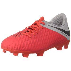 Nike Unisex_Child Jr Hypervenom 3 Club Fg Futsal Shoes, Multicoloured Lt Crimson Metallic Dark Grey Wolf Grey 600, 11.5 UK