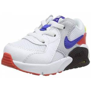 Nike Unisex Babies' Air Max Excee (td) Sneaker, White/Hyper Blue-Bright Cactus Track Red, 5.5 Child UK