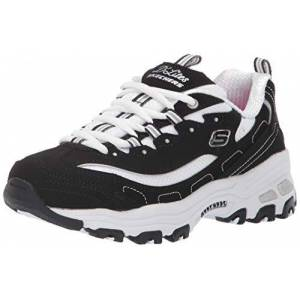 Skechers Girl's D'lites- Biggest Fan Trainers, Black (Black Trubuck/White Mesh Bkw), 10.5 UK (28 EU)