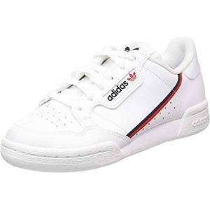 Adidas Continental 80 C, Unisex Kids' Fitness shoes, White (Ftw Bla/Escarl/Maruni 000), 2 UK (34 EU)