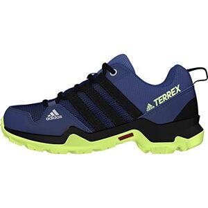 adidas Unisex Kids' Terrex Ax2r K Trail Running Shoe, Tech Indigo/Core Black/Signal Green, 11.5 UK
