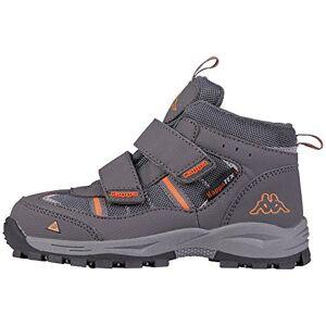 Kappa Unisex Kids' Action Tex Nordic Walking Shoes, Grey (Anthra/Orange 1344), 13 UK Child