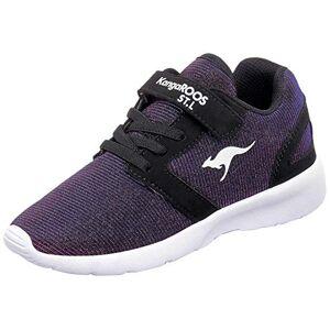 KangaROOS Unisex Kids' Nihu EV Sneaker, Blue Dk Navy Metallic White 4216, 5 UK