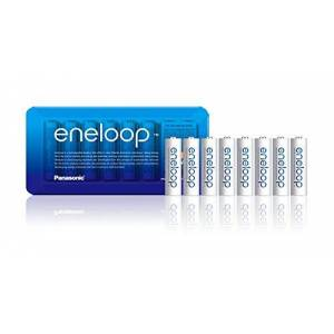 Panasonic eneloop AA Rechargeable Ready-To-Use Ni-MH Batteries , Pack of 8. (BK-3MCCE/8LE) White
