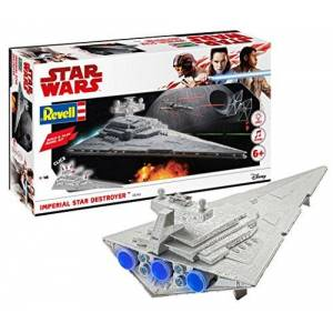 Revell RV06749 Wars Imperial Star Destroyer with Lights & Sounds Model Kit, Various