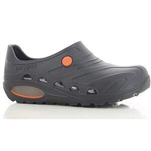 Oxypas Safety Jogger Lightweight Clog Women - Slip On Clog for Men, Anti-Slip, Anti-Bacterial, Anti-Static and Anti-Fungal, Oxyva Black, UK 5,5/6,5 EU 39/40