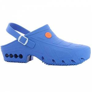 Oxypas Safety Jogger Hospital Clog Women - Lightweight Autoclavable Work Shoe for Men, Ideal for Healthcare, Anti-Slip, Anti-Static and Shock Absorbing, 5.5/6.5 UK 39/40 EU, Oxypas Oxyclog Electric Blue