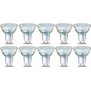 AmazonBasics LED GU10 Spotlight Bulb, 4W (equivalent to 50W), Clear Filament- Pack of 10