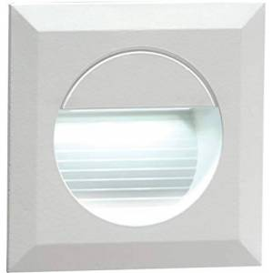 ML NH019W - 230VRECESSED IP54 SQUARE INDOOR/OUTDOOR LED GUIDE/STAIR/WALL LIGHT WHITE LED